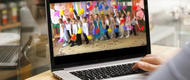 """Упражнение с салютами на музыку """"Золото света"""" на выпускном"""