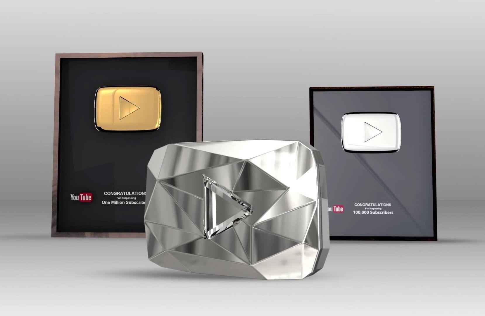 Серебряная, золотая, платиновая кнопки YouTube