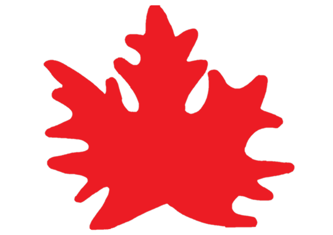 Кленовый лист красный - шаблон